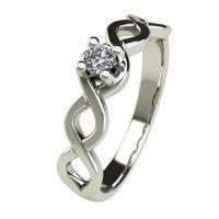 Годежен Пръстен бяло злато с диамант Cast 0,12 ct. 2755