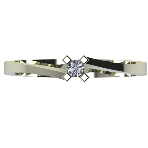 Годежен Пръстен бяло злато с диамант Chase 0,04 ct. 2733 a