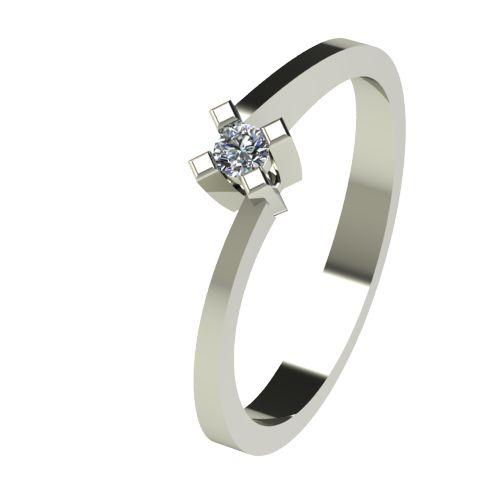 Годежен Пръстен бяло злато с диамант Chase 0,04 ct. 2733