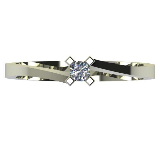 Годежен Пръстен бяло злато с диамант Chase 0,07 ct. 2734 a