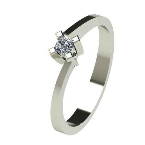 Годежен Пръстен бяло злато с диамант Chase 0,07 ct. 2734