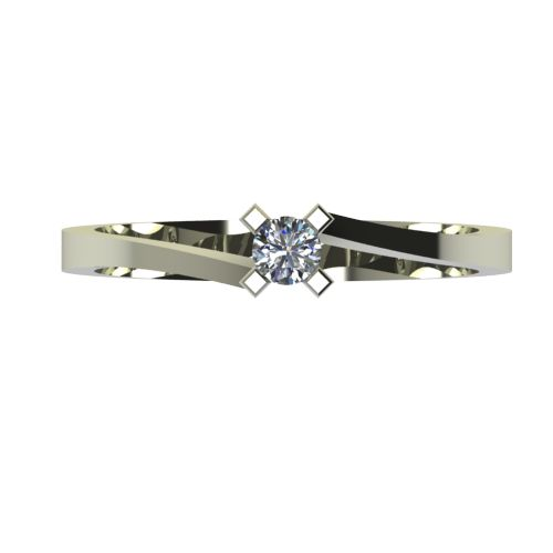 Годежен Пръстен бяло злато с диамант Chase 0,12 ct. 2735 a