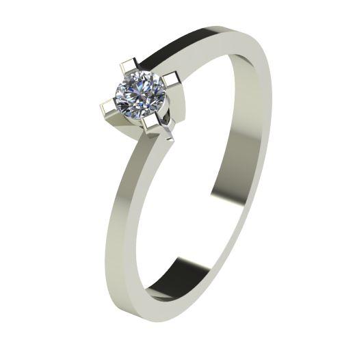 Годежен Пръстен бяло злато с диамант Chase 0,12 ct. 2735