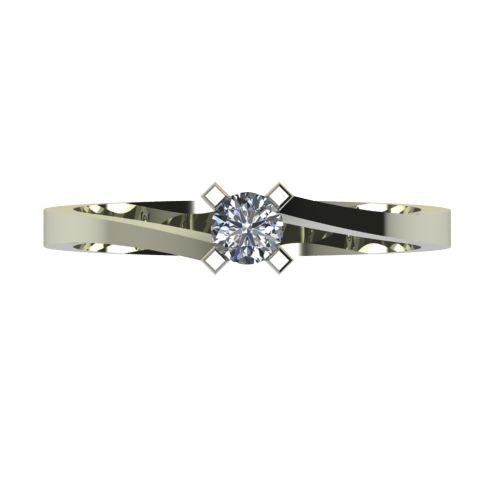 Годежен Пръстен бяло злато с диамант Chase 0,17 ct. 2736 a