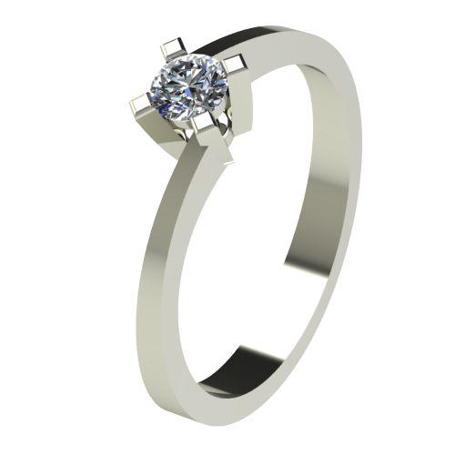 Годежен Пръстен бяло злато с диамант Chase 0,17 ct. 2736