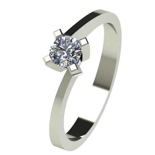 Годежен Пръстен бяло злато с диамант Chase 0,25 ct. 2737