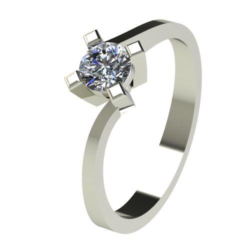 Годежен Пръстен бяло злато с диамант Chase 0,36 ct. 2738