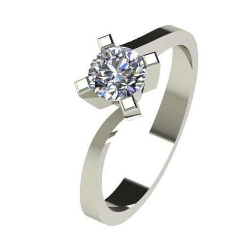 Годежен Пръстен бяло злато с диамант Chase 0,50 ct. 2739