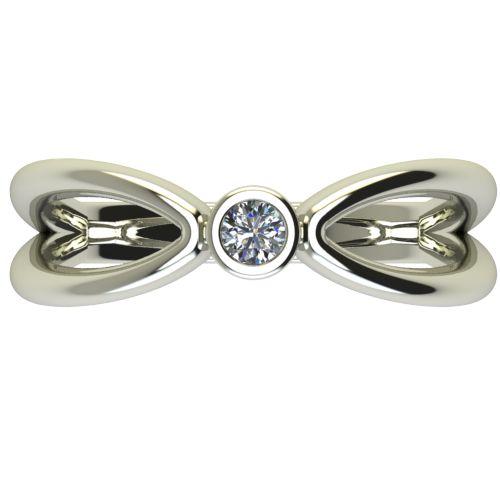 Годежен Пръстен бяло злато с диамант Wings 0,07 ct. 2748 a