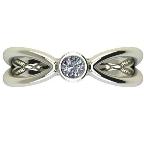 Годежен Пръстен бяло злато с диамант Wings 0,12 ct. 2749 a