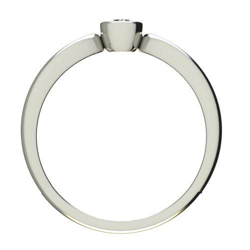 Годежен Пръстен бяло злато с диамант Wings 0,12 ct. 2749 b